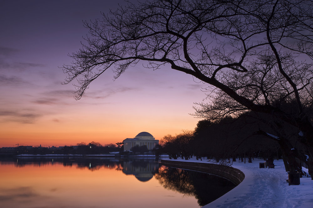 Jefferson Memorial, December Morning