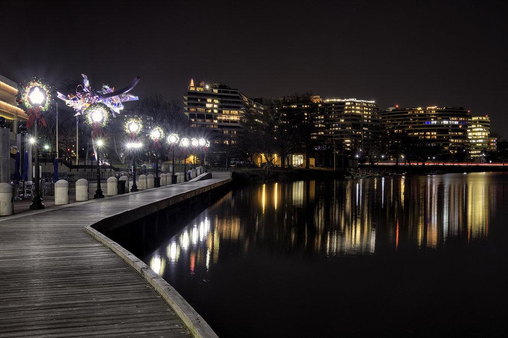 Georgetown Waterfront, December Evening