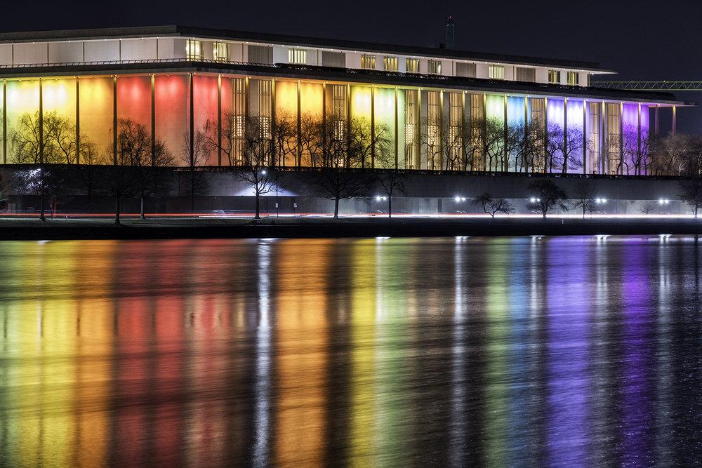 Kennedy Center, December Evening