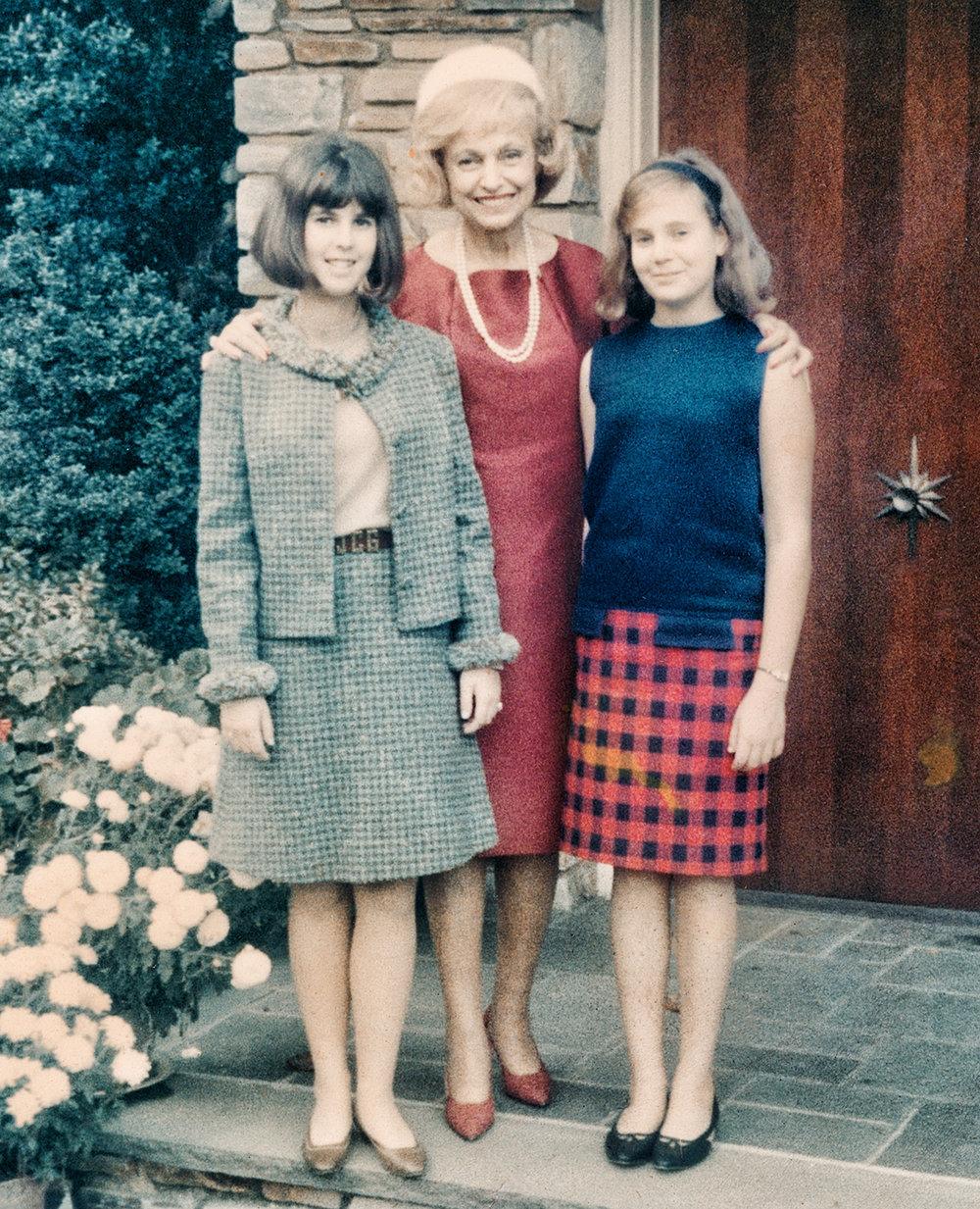 Joanna, Kathryn and Sally on Academy Lane