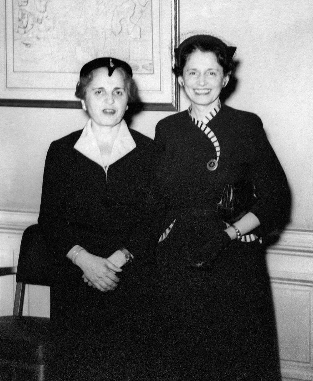Esther Lazarus and Sylvia Adalman