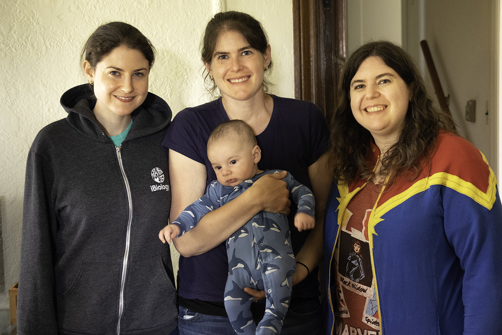 Sarah, Amy and Rachel with Eli (3 months)