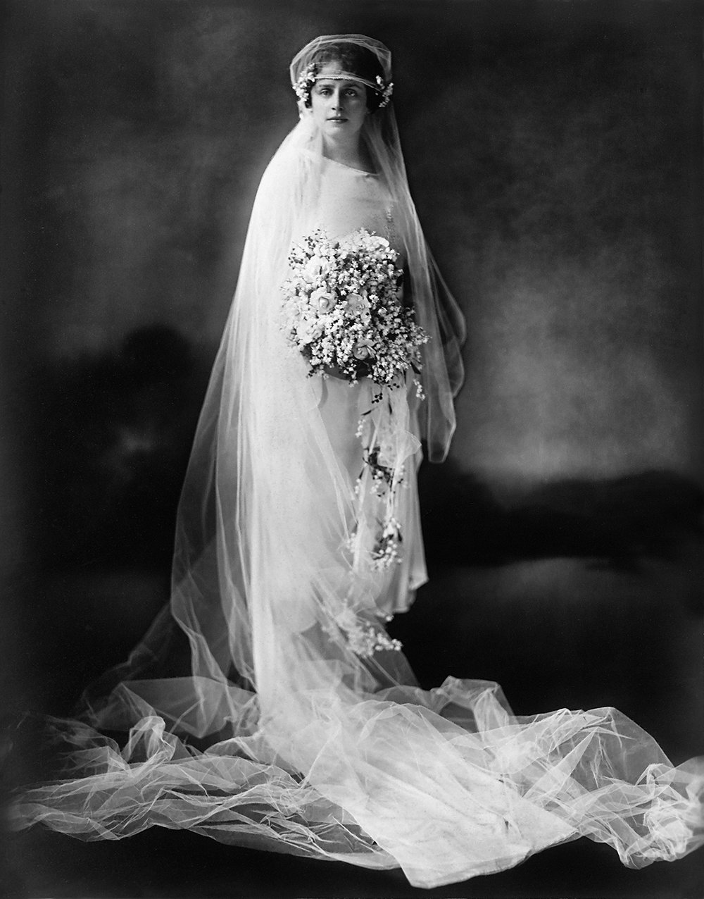 Sylvia in her Wedding Dress