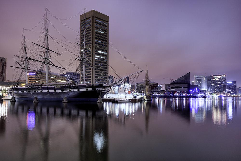 Baltimore Harbor, October Morning