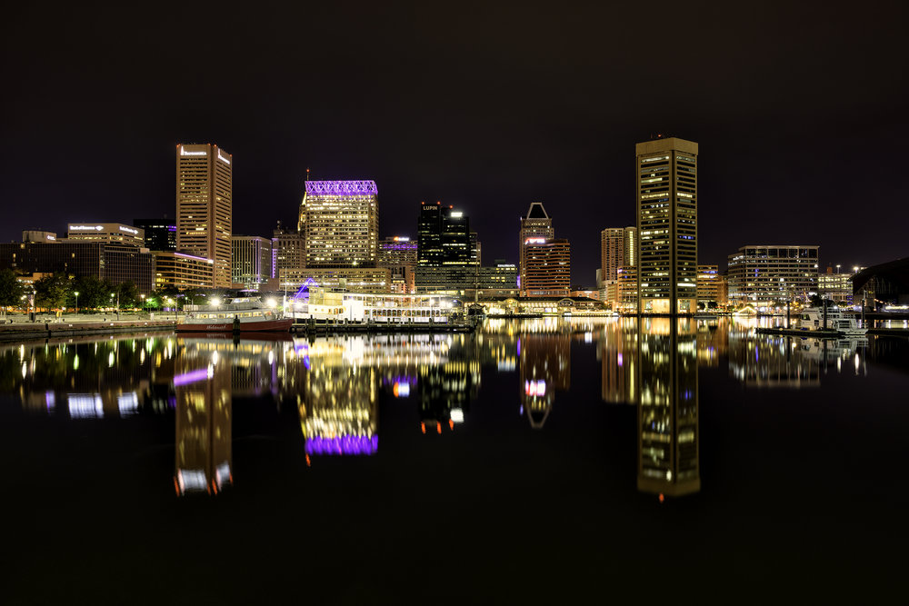 Baltimore Harbor, October Morning