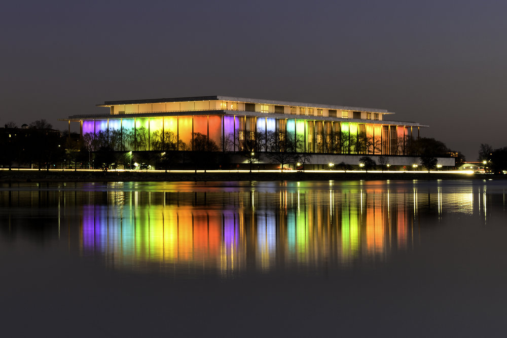 The Kennedy Center, December Evening