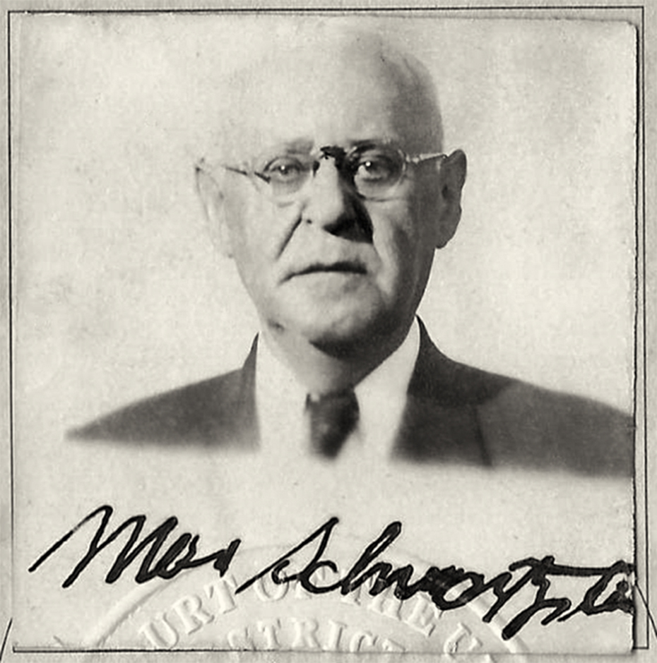 Max Schwartzstein, from his naturalization certificate