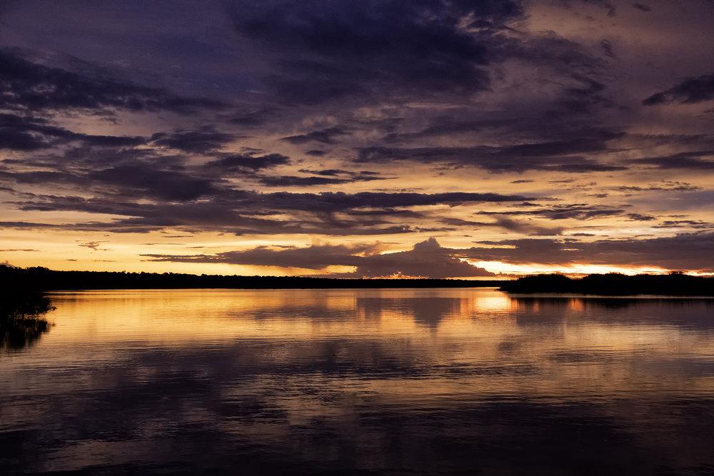 Chobe River, Botswana, February Sunset