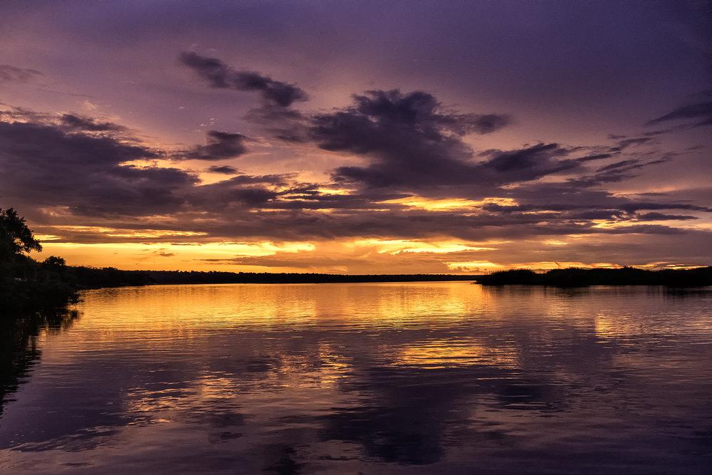 Chobe River, February Sunset