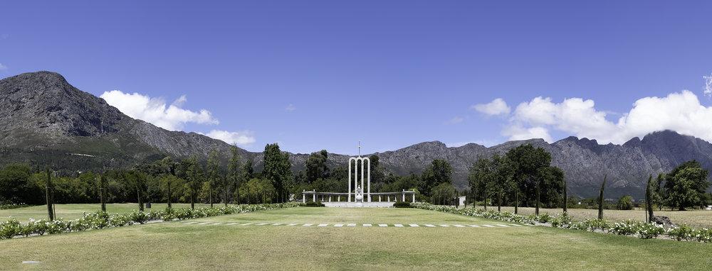 Huguenot Memorial, Franchhoek, SA, February Afternoon