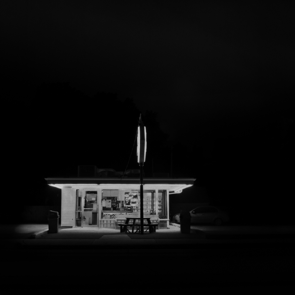 Dairy Queen at Night, Lincoln, Nebraska