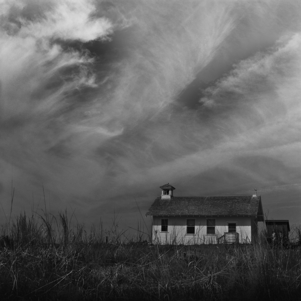 Prairie Schoolhouse, Nebraska, Nebraska Landscape Photography, Fine Art Black and White Photography, Nebraska Black and White Photography, Great Plains Landscape Photography, Nebraska Photography.