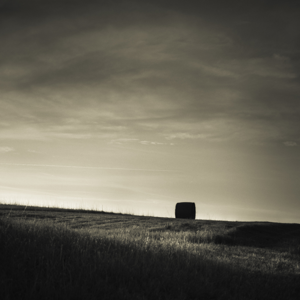 Copy of Hay Bale, Nebraska Landscape Photography, Fine Art Black and White Photography, Nebraska Black and White Photography, Great Plains Landscape Photography, Nebraska Photography.