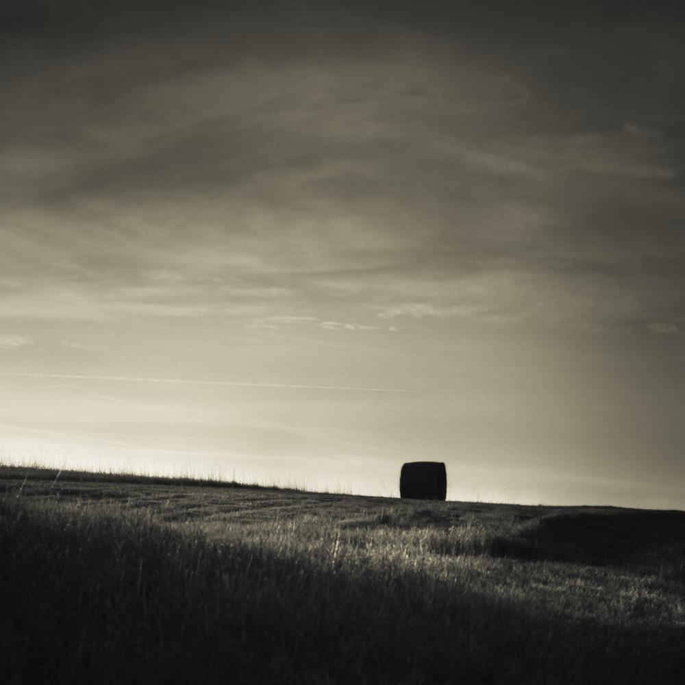 Copy of Hay Bale, Nebraska Landscape Photography, Fine Art Black and White Photography, Nebraska Black and White Photography, Great Plains Landscape Photography, Nebraska Photography.