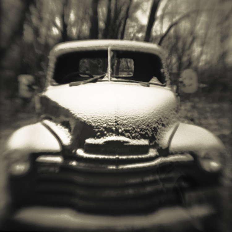 Chevy Truck Pinhole Photograph, David (Dave) McCleery