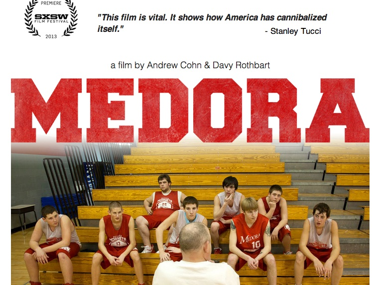 "The depressed farming community of Medora, Ind., is the focus of the often-somber documentary appropriately titled ""Medora."" The film, directed by Andrew Cohn and Davy Rothbart, works as an earnest snapshot of a certain kind of small town that's struggling to exist amid economic downturns, shuttered workplaces and a stultifying lack of hope or progress. It's a sad commentary about people and places that get left behind — the wholesale disappearance of the American dream. ""Medora,"" which counts actors Steve Buscemi and Stanley Tucci among its executive producers, follows members of the town's hapless high school basketball team over the course of a single school year. These players can't quite break their team's longtime losing streak, something that's perhaps as attributable to the kids' hardscrabble existences as it is to their hoop skills (that it's the state's fifth-smallest public high school also minimizes the possible pool of athletic talent)."