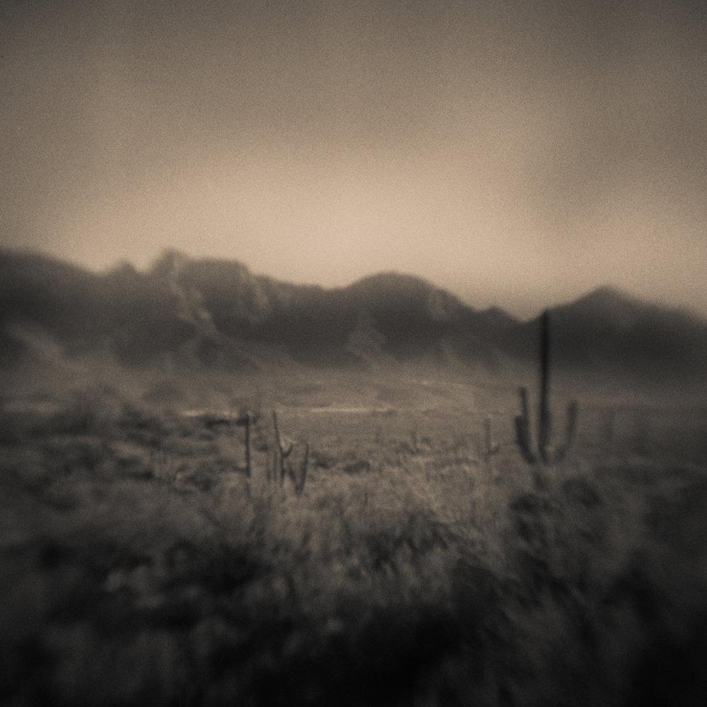 Modern Pinhole Landscape Photography, Tucson, Arizona, 2018