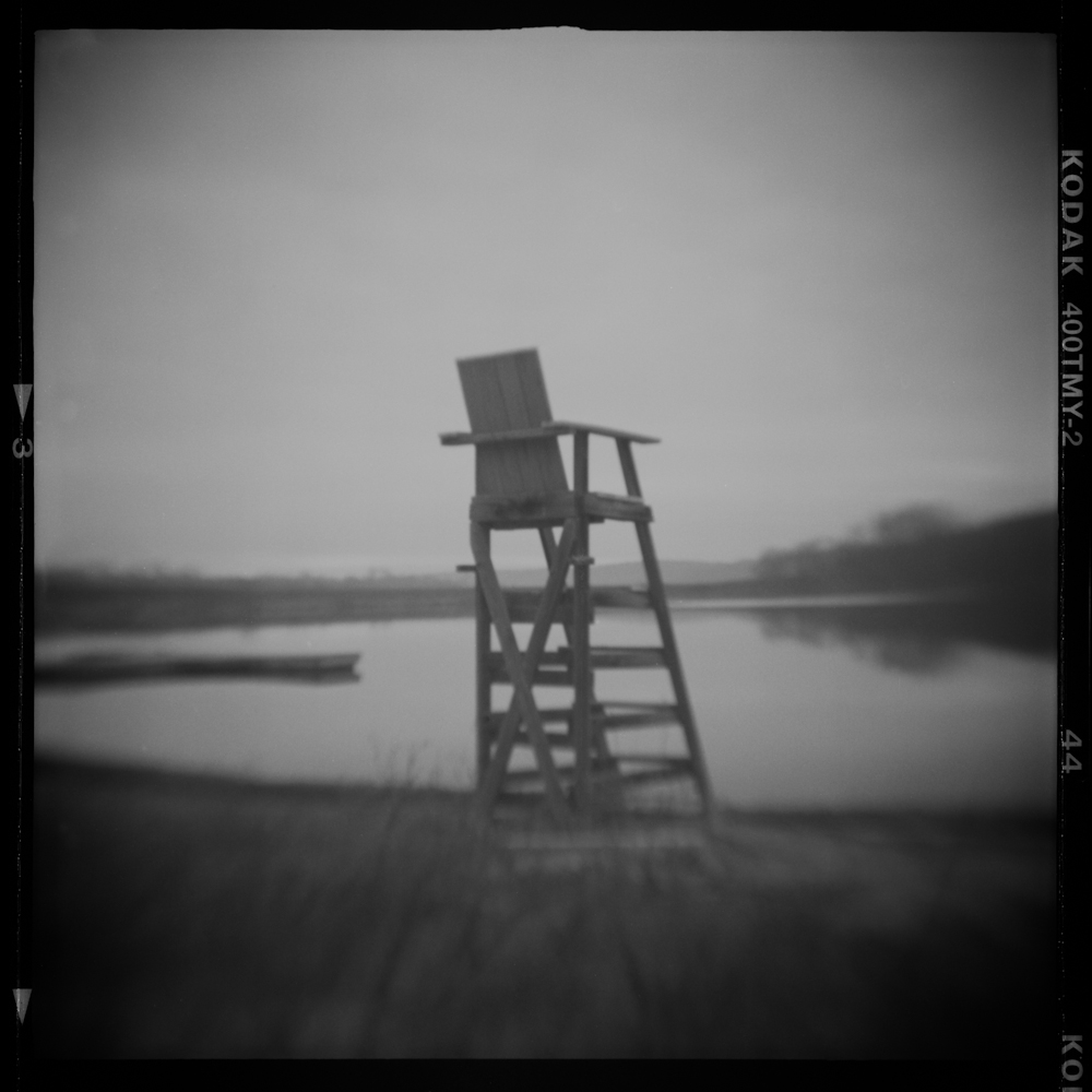Summer Abandoned, Lifeguard Chair, Pinhole Photograph, David McCleery