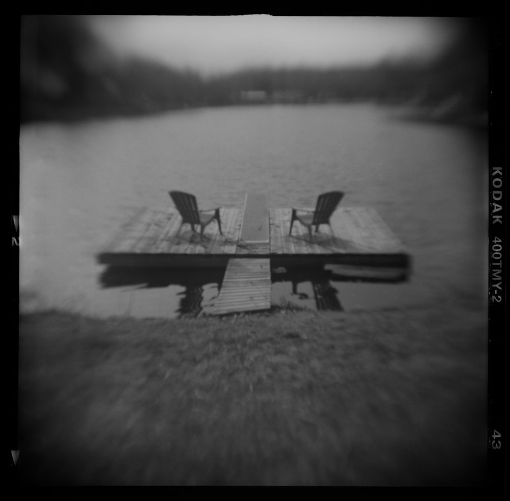 Two Deck Chairs, Summer Abandoned, Pinhole and altered camera photography    2018 © David McCleery