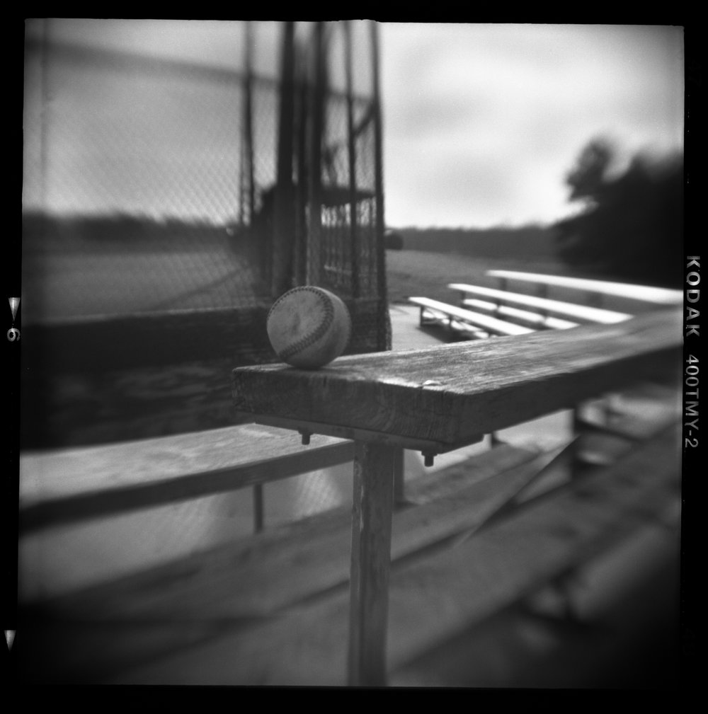 Summer Abandoned, Baseball, Pinhole Photography, David McCleery