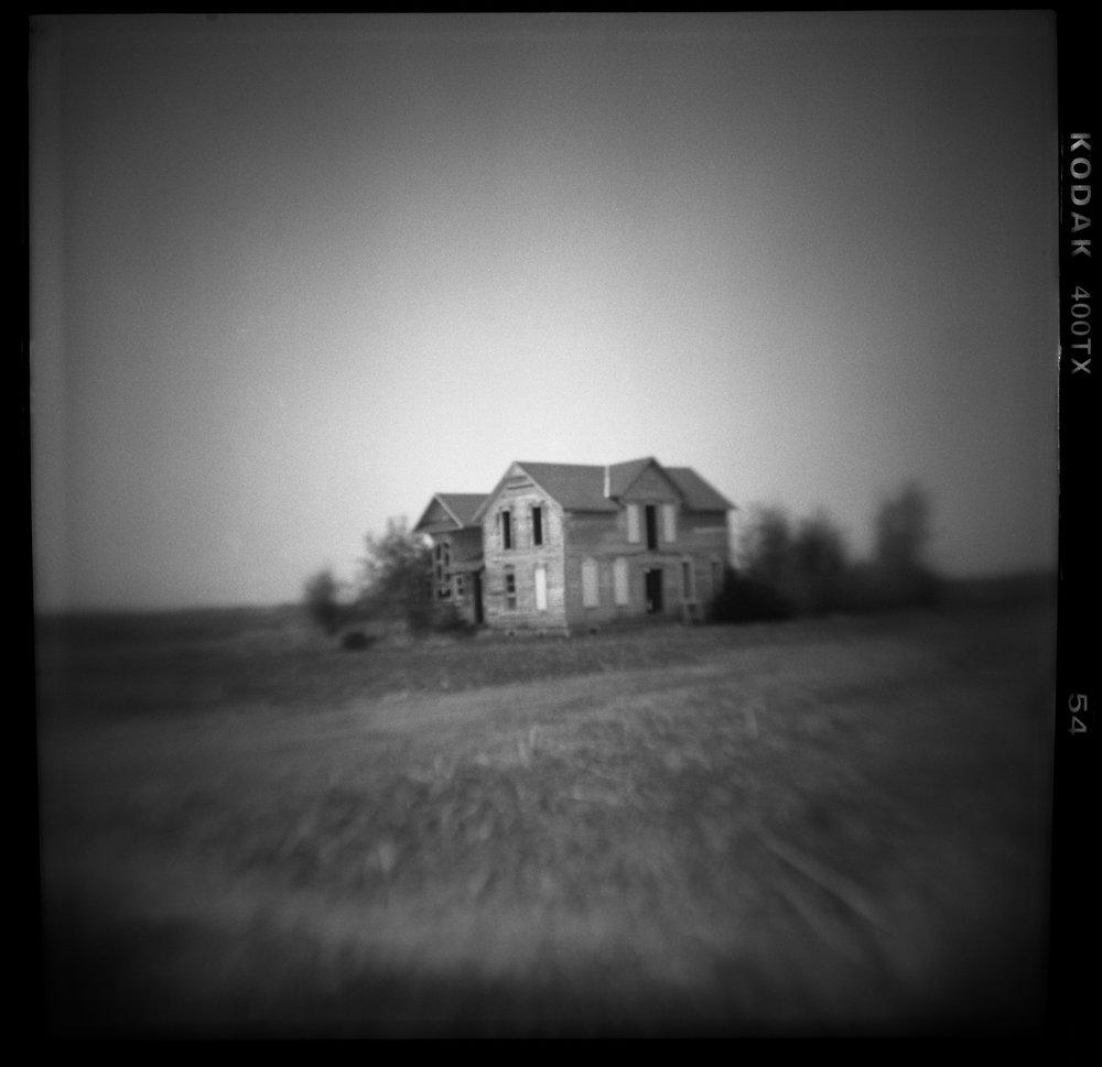 Memory House, Summer Abandoned, pinhole and altered camera photography    2018 © David McCleery