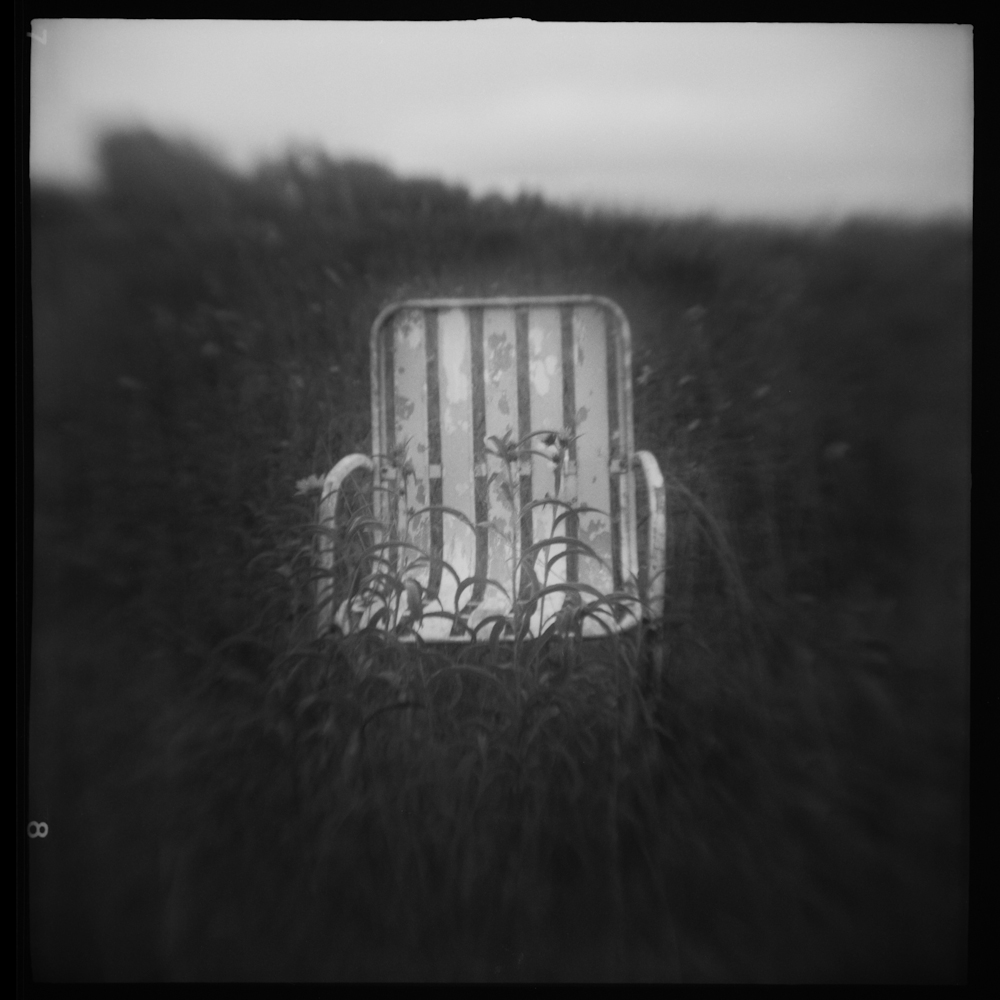 Prairie Chair, Summer Abandoned, pinhole and altered camera photography    2018 © David McCleery