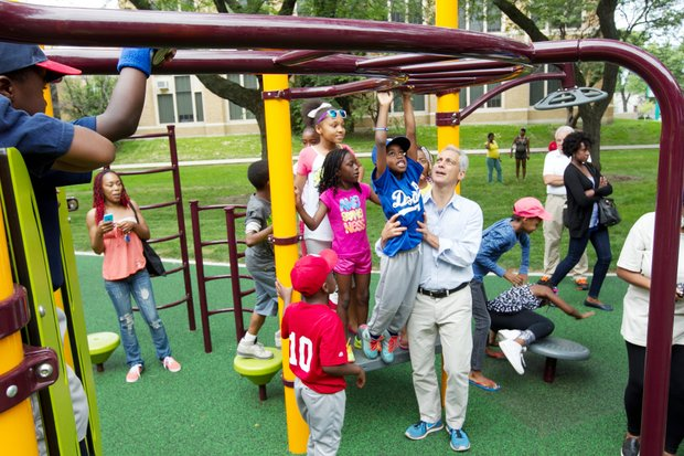Chicago Plays is Mayor Emanuel's initiative to ensure every child in Chicago is within a 10 minute walk to a place to play