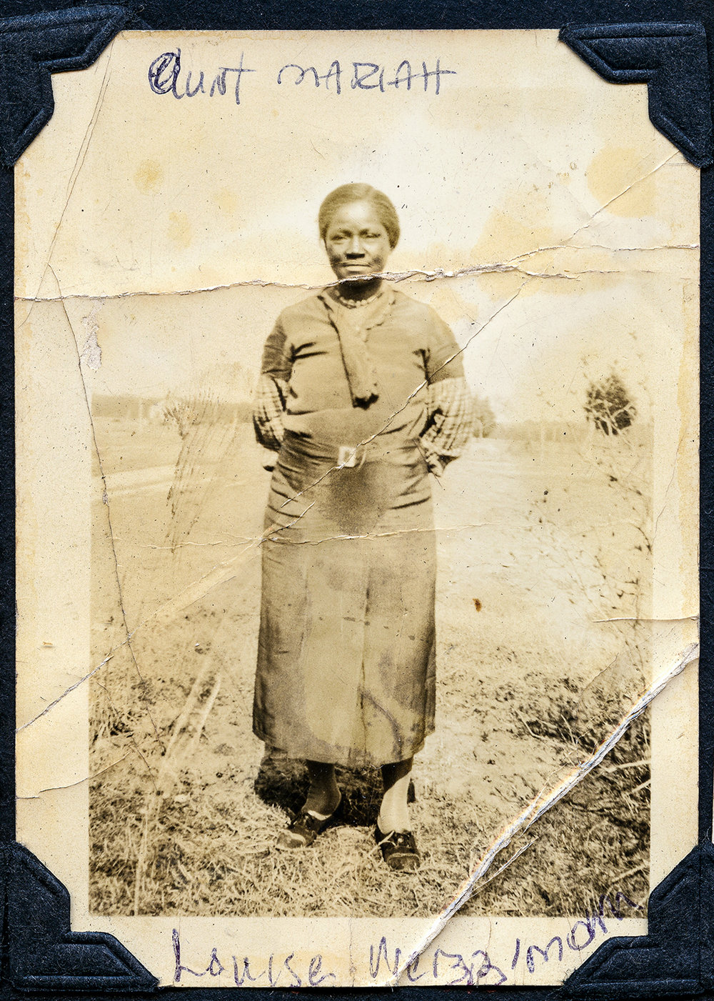 Mariah Palmer Pierce, one of Mat and Julia Palmer's 12 children, poses in the Magruder area, Virginia. From the collection of QuoVadis Wright.