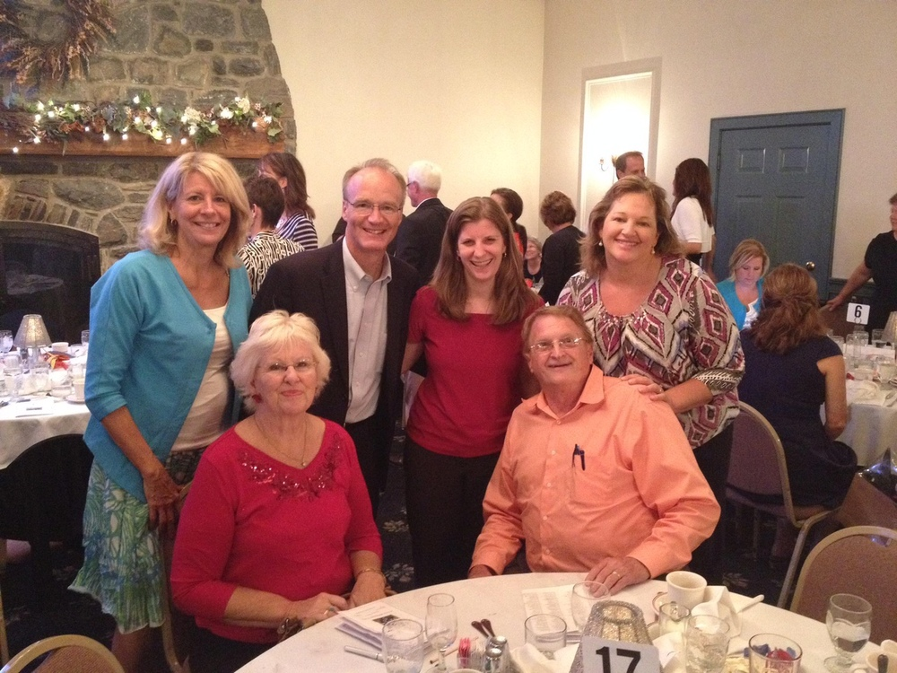It's an incredible blessing to live somewhere where the communities so actively invest in public education. Recently, Jen and I had a wonderful evening at the Penn Manor Education Foundation dinner. PMEF is a non-profit community   based organization dedicated to enhancing and enriching the educational experiences of the students and faculty in the Penn Manor School District public schools.  Pictured here: (front) Martha and Willis Herr. (Back from left) Sue Charles, me, my wife Jen, and Fiffer Raush.
