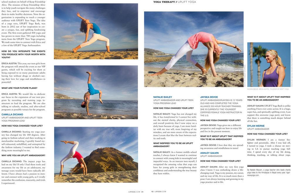 LA Yoga Magazine, September 2014