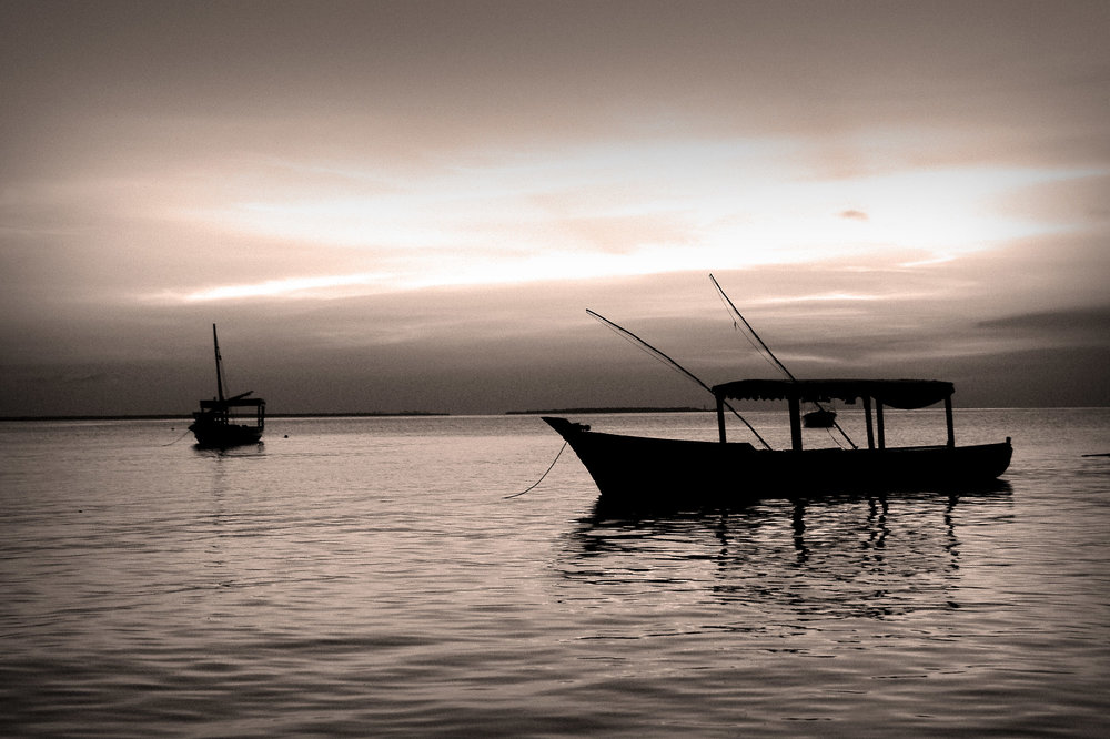 Sunset Boats in Zanzibar