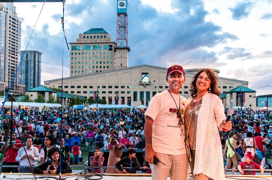Founder of the Mosaic festival brand Arshad Mahmood and Asma Mahmood at Mosaic outdoor festival. Photo Credit: Mosaic Festival