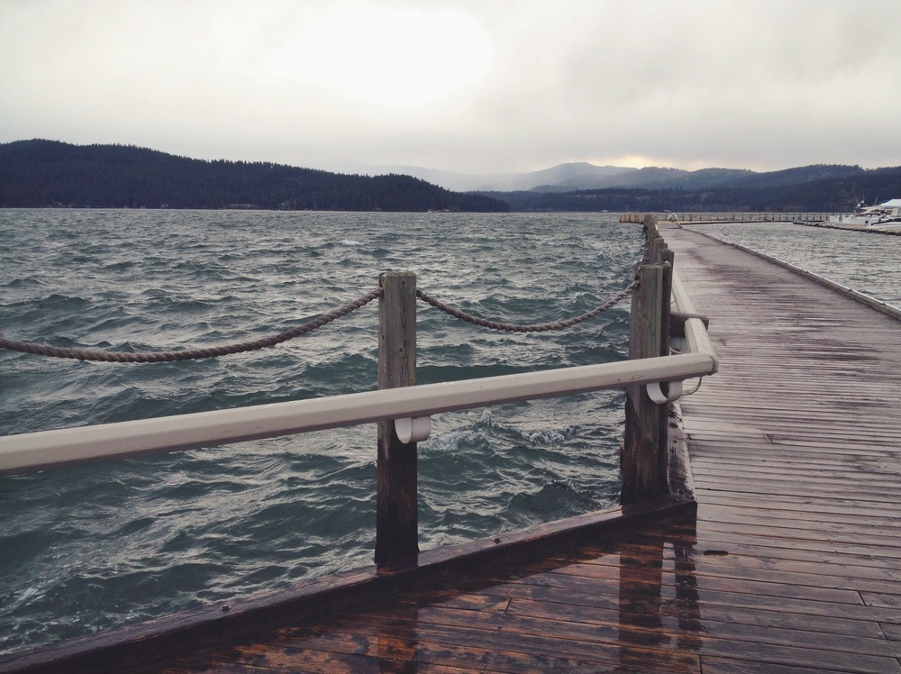 A trip to Coeur d' Alene with friends to try and shoot some long exposures. We ended up on this deck in some crazy wind and ocean like conditions... not good for long exposure, to say the least!