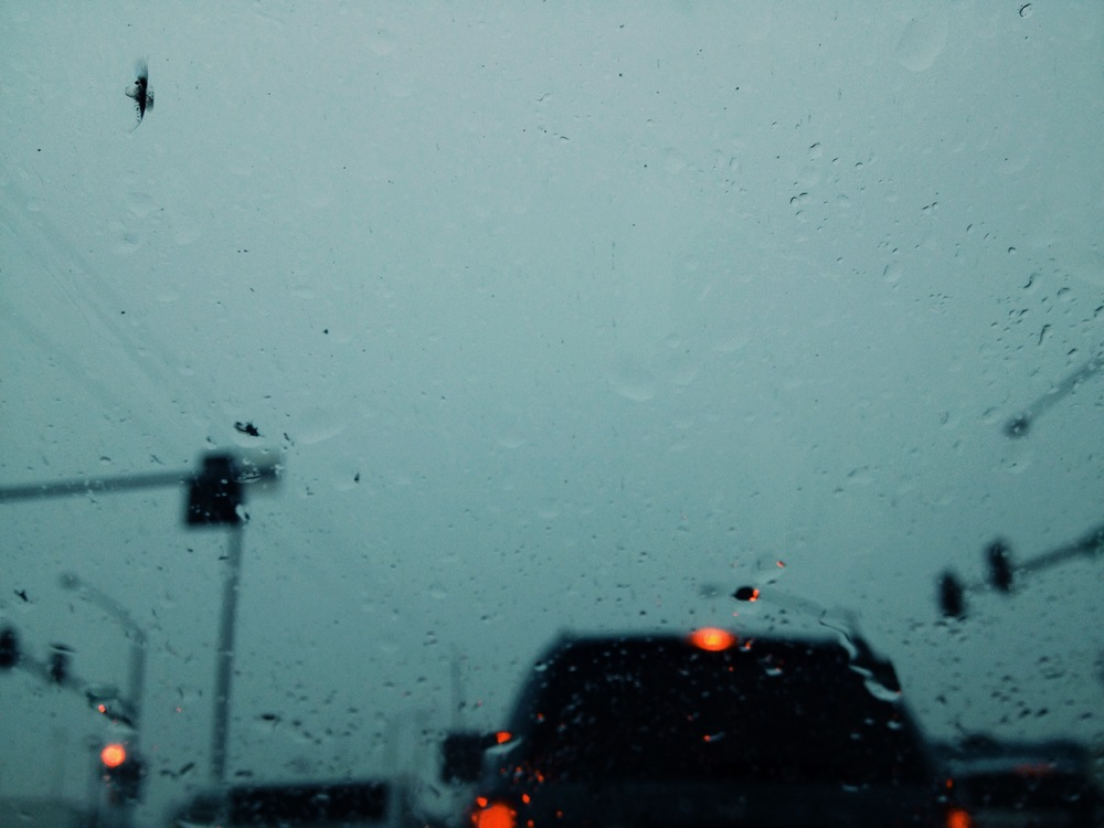 A rainy contemplative drive home from class.