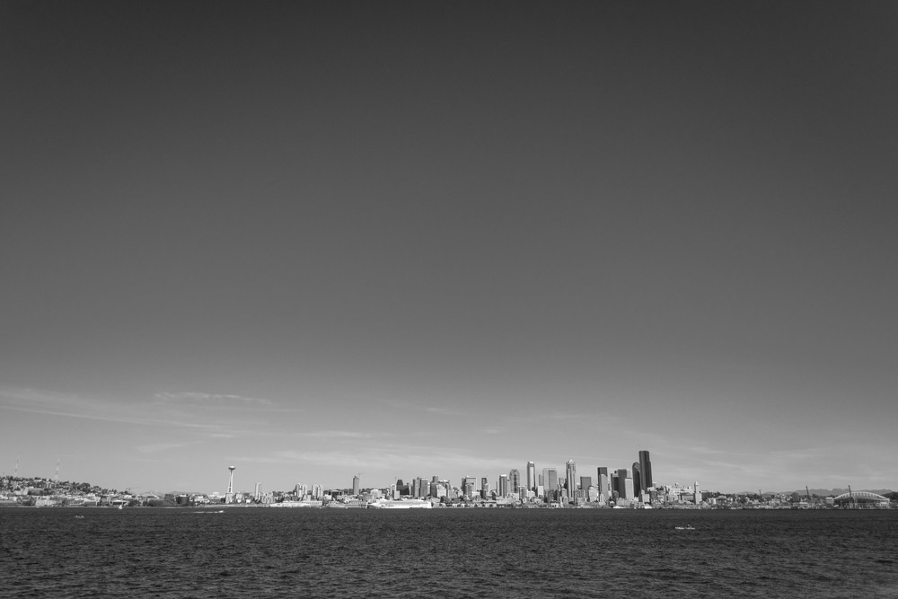 The Seattle skyline, viewed from Alki Beach
