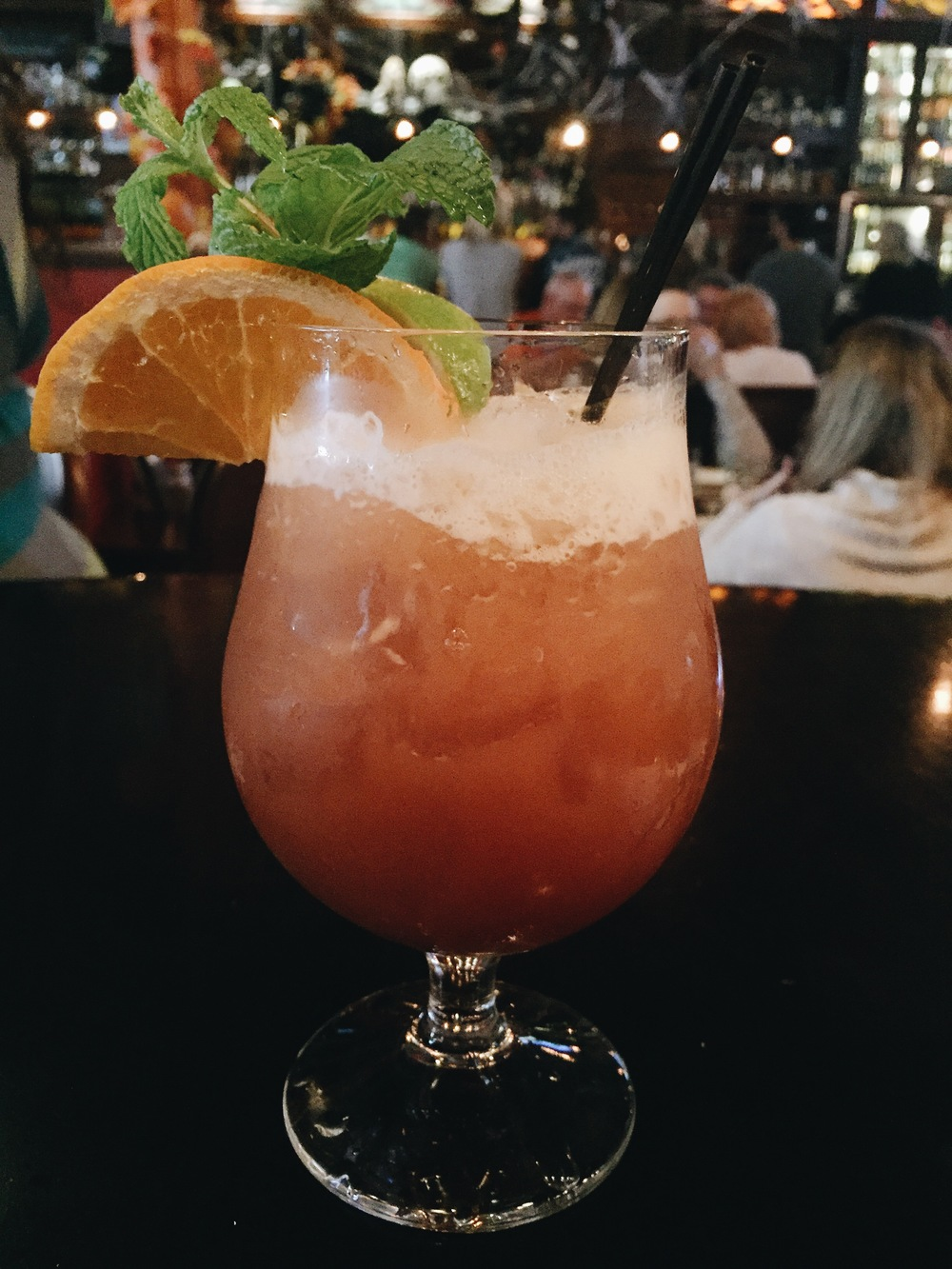 """A drink at the Bittercreek Alehouse called a """"Zombie."""" Super tasty drink with primarily Rum, but a really strong one! Be careful if you order this! ;)"""