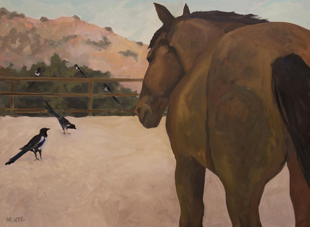 """The CEO""  Oil on Canvas 30"" x 40""  $4000 framed"