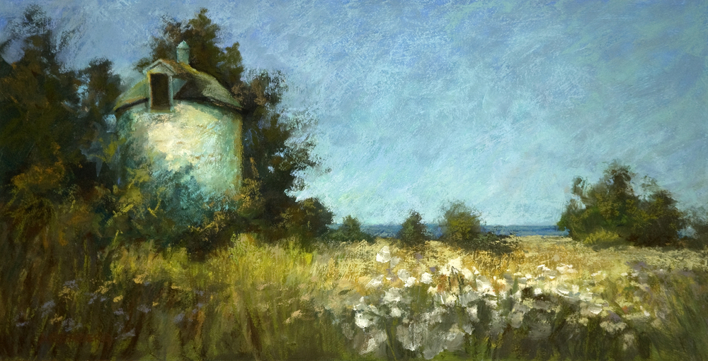 """Summer Silo""  Pastel on Board     12"" x 24""     $1200  Framed"