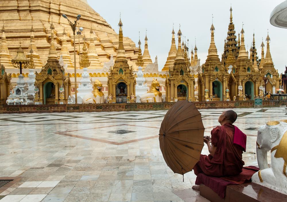 Shwedagon Pagoda Rangoon Burma