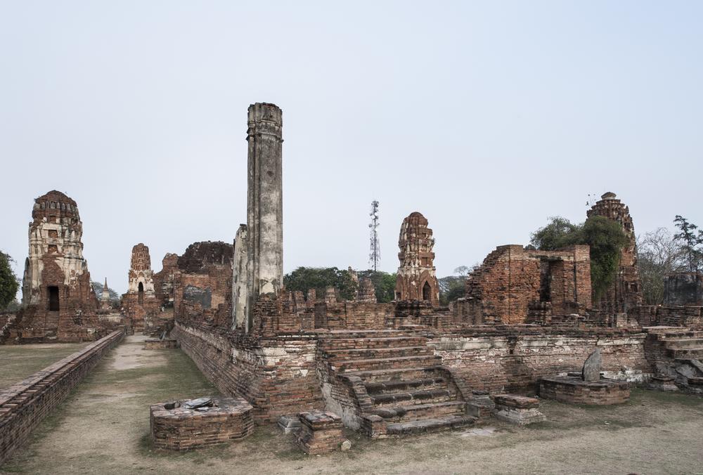 Wat Mahatathat,Ayutthaya, Thailand, 2015