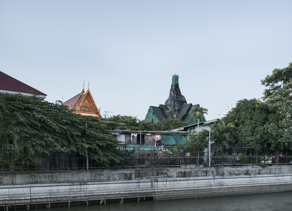 Wrapped temple, Bangkok, Thailand, 2015