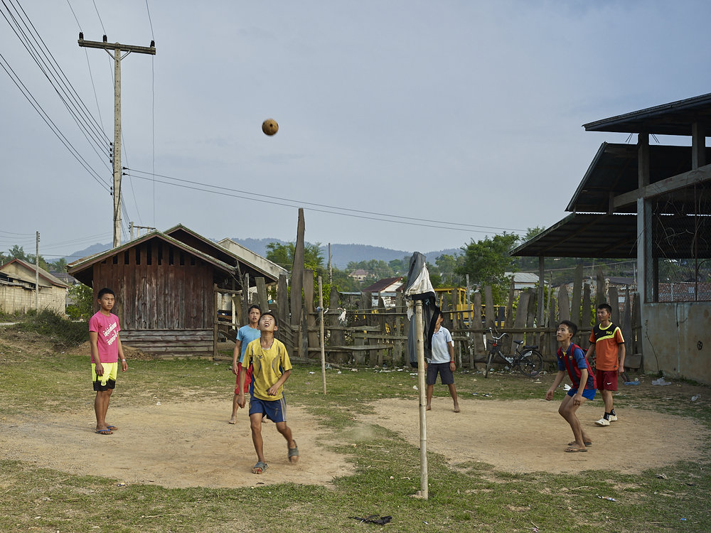 Kick ball game, Phonsavan Laos, 2016