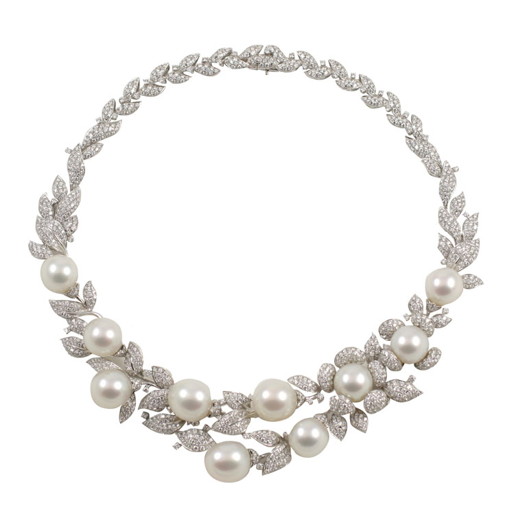 en silver us vintage lxrandco gold tone mikimoto owned necklace luxury diamond necklaces white large estate pearl jewelry pre