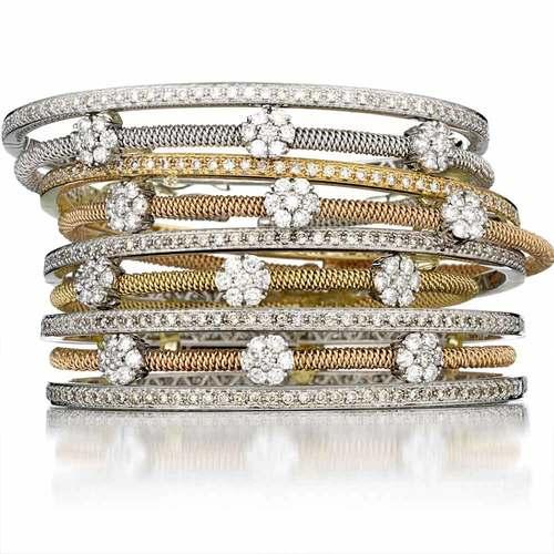 90065b4c46555b Classic Diamond Bangle Bracelets — Jeri Cohen Fine Jewelry