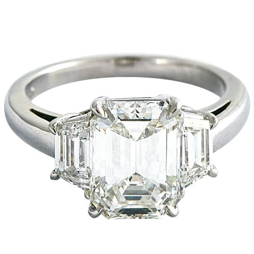 trilogy and end smith emerald diamond cut product ring pruden jewellery