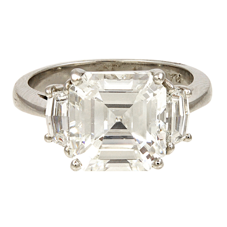 a 4 01 ct i vs2 asscher cut engagement ring
