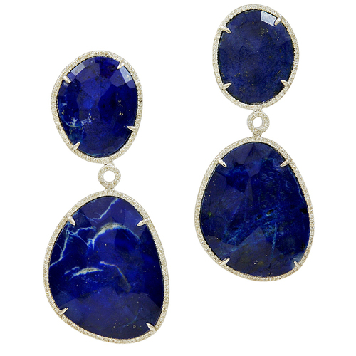 ears cabochon twist gold frames for karat lapis precious pierced jewels set wire post cabochons johnston cut in back diane lazuli mm griswold cushion earrings