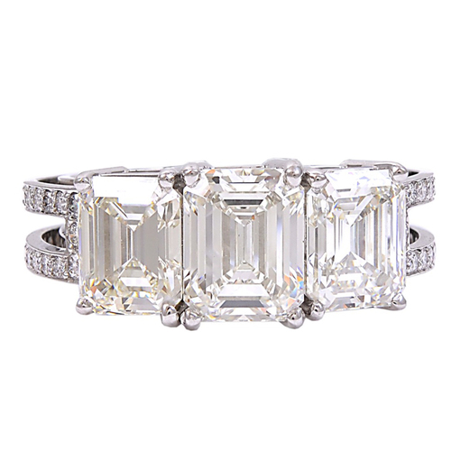 Three Stone Emerald Cut Diamond Engagement Ring.jpg