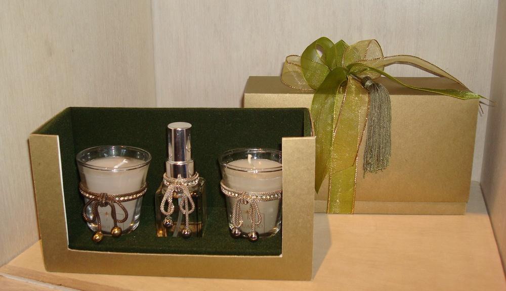 Trio de Velinhas e Home Spray: R$175,00