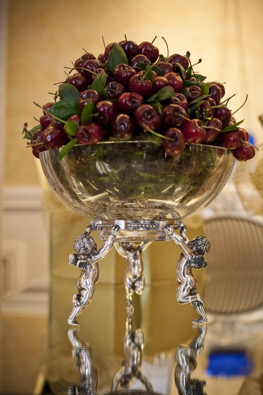 Floreira de Cristal com Base de Anjo em Prata de Lei